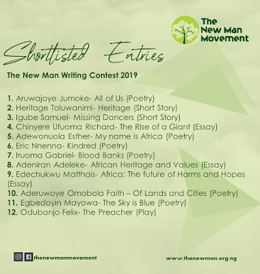 Release: Shortlisted Entries for The New Man Writing Contest 2019
