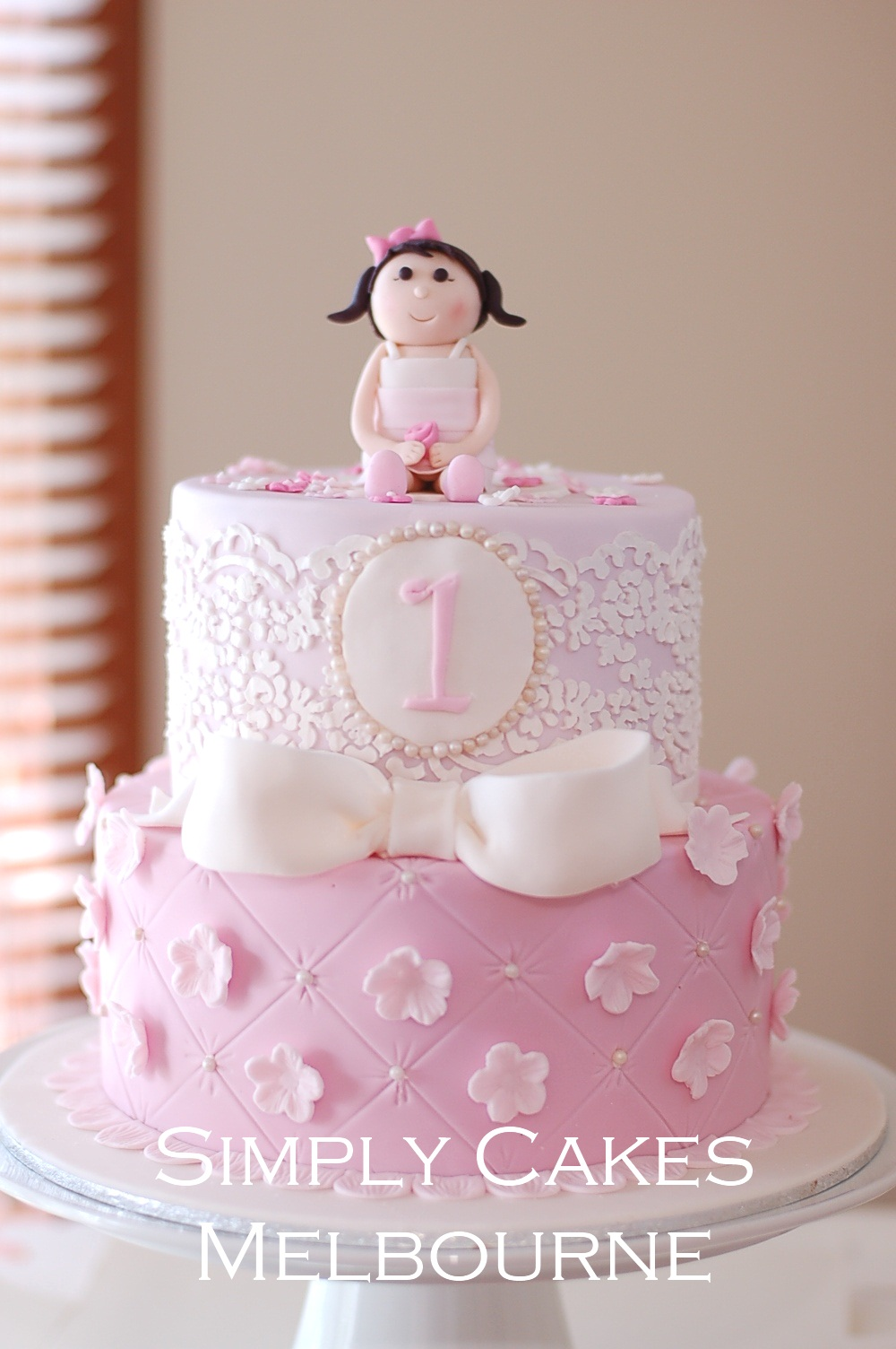 Sensational Simply Cakes Melbourne 1St Birthday Princess Cake Personalised Birthday Cards Veneteletsinfo