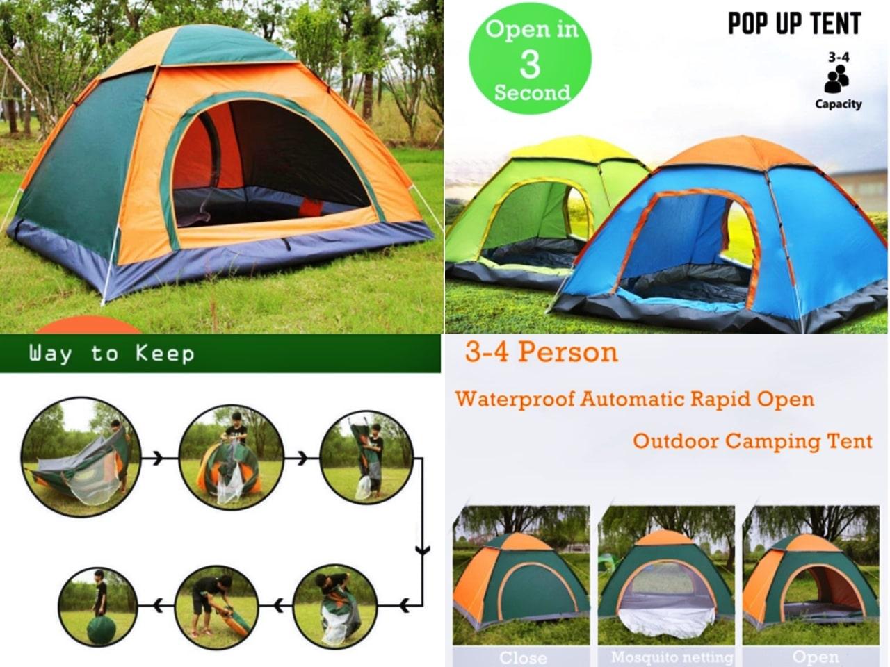 SenaraiBarangan Asas Camping Harga Bawah RM100!
