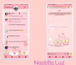 Owls Love Story Theme For YOWhatsApp & Fouad WhatsApp By Natalia Luz