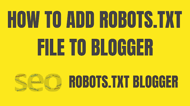 How to add robots.txt in blogger new interface