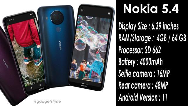 Nokia 5.4 Full Phone Specifications, Coming Soon on Flipkart