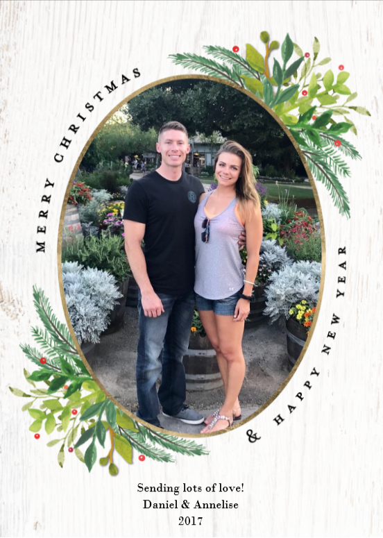 Walgreens custom Christmas cards, Rowe Christmas 2017
