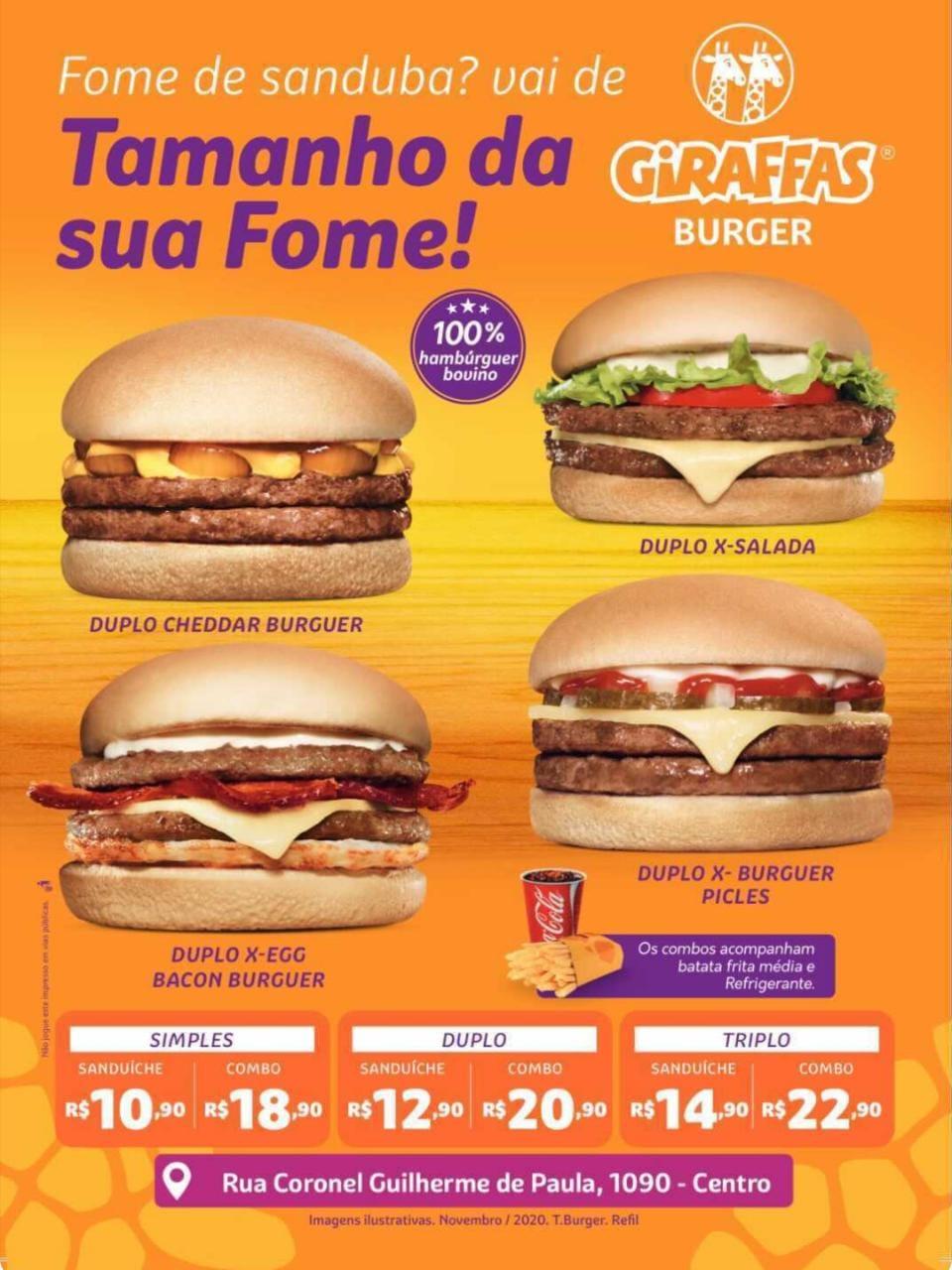 Inauguração 9 de dezembro - O Giraffas Burger está chegando em Laranjeiras do Sul