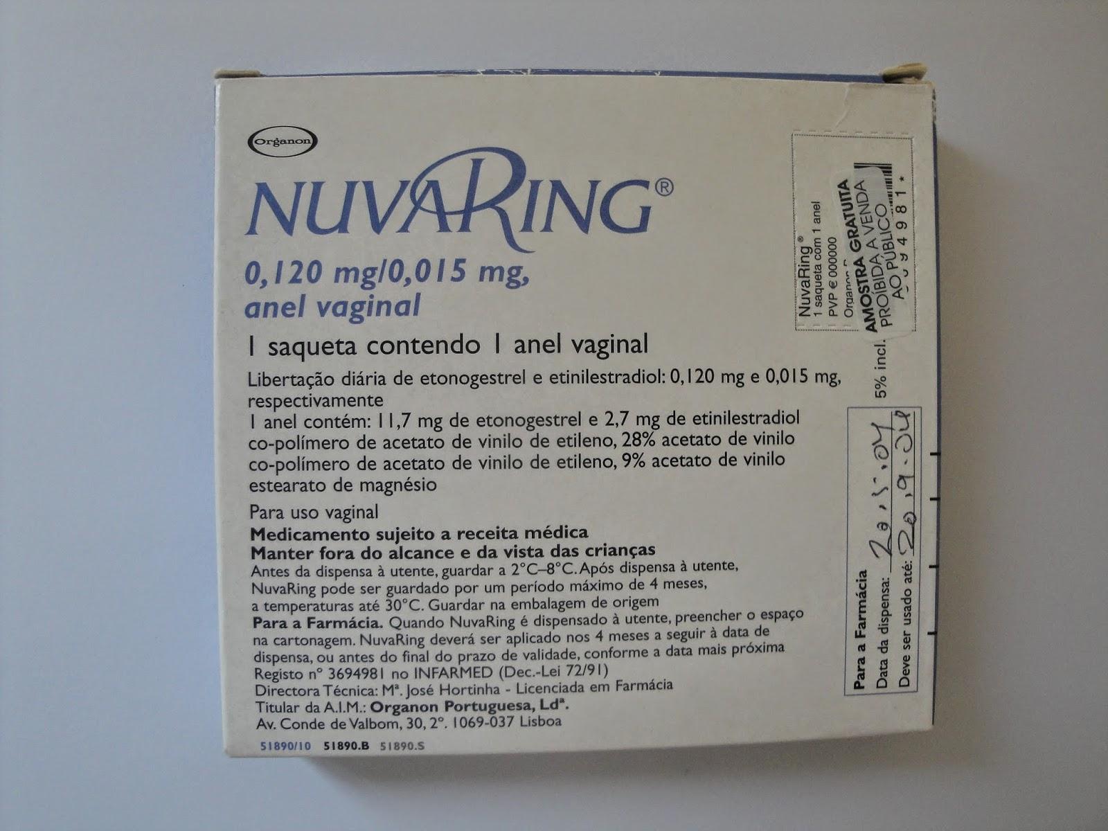 Anel hormonal caixa nuvaring