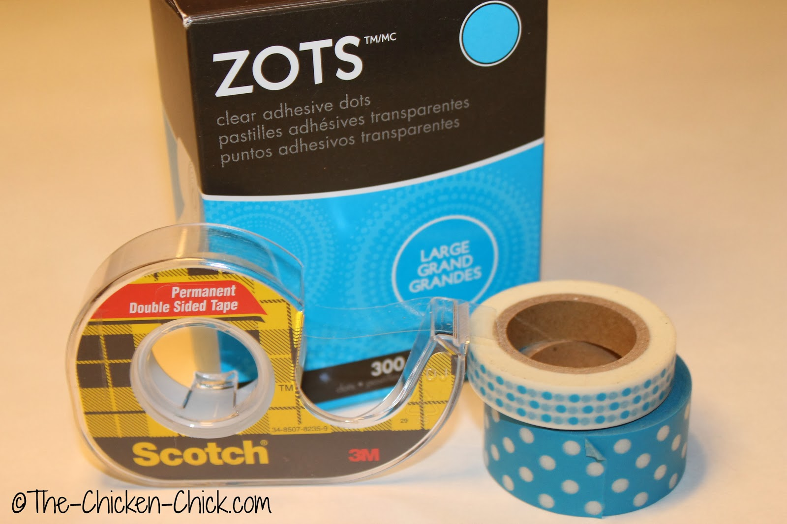 Double stick tape, Washi tape and self-adhesive, double sided dots
