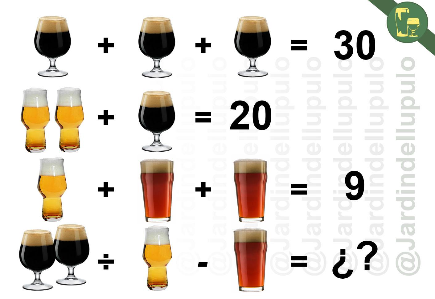 Ejercicios Mentales Cerveceros (1): Incógnitas