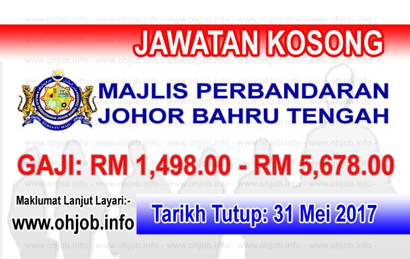 Jawatan Kerja Kosong MPJBT - Majlis Perbandaran Johor Bahru Tengah logo www.ohjob.info mei 2017
