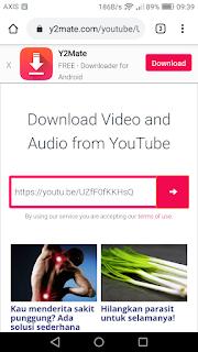 Cara mendownload lagu dan video dari youtube secara mudah