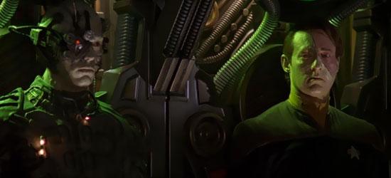 Il Tenente Comandante Data (Brent Spiner) in una scena dela film Star Trek Primo Contatto - TG TREK: Notizie, Novità, News da Star Trek
