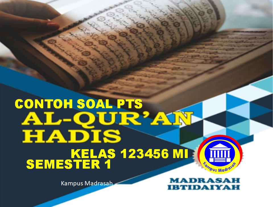 Bank Soal PTS Al-Qur'an Hadis
