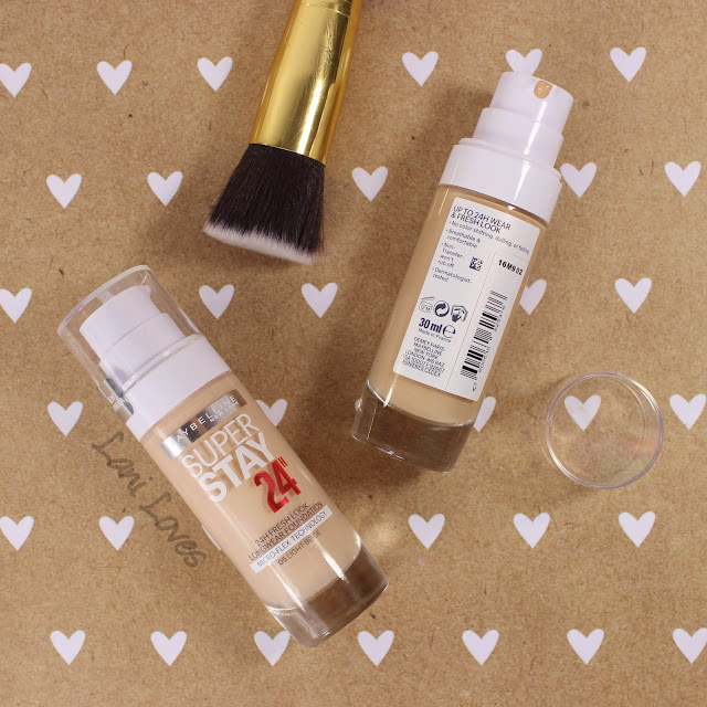 Maybelline Superstay 24H foundation swatches & review