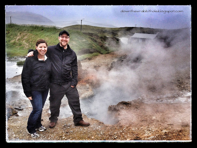 Hveragardi hot spring, hot springs by Route 1 in Iceland, Ring Road hot springs