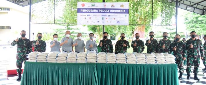 Kodam Hasanuddin Terima Bantuan Raskin dari Pengusaha Peduli Indonesia, Untuk Disalurkan ke Warga Miskin
