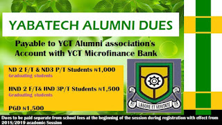 YABATECH ALUMNI Dues for Full and Part-Time Students [ND, HND & PGD]