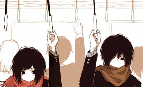 Anime Couple In Bus