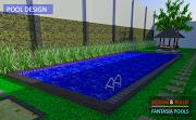 Desain 3D Kolam Renang