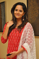 Anasuya Bharadwaj in Red at Kalamandir Foundation 7th anniversary Celebrations ~  Actress Galleries 020.JPG