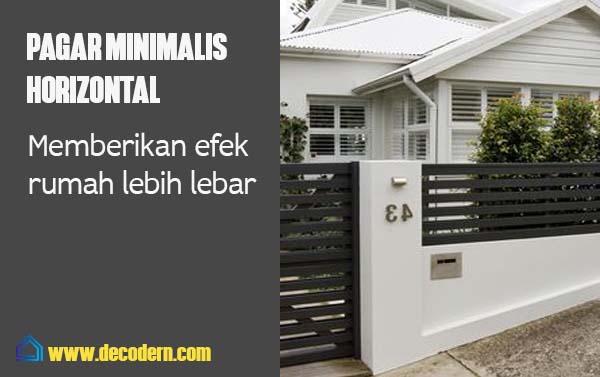 pagar minimalist horizontal