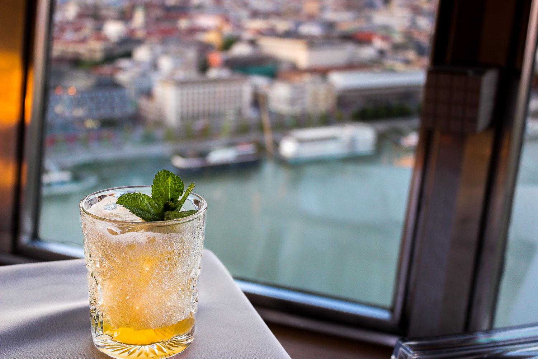 Bratislava UFO Restaurant Cocktail