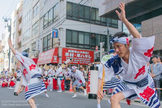江戸っ子連、マロニエ祭り、ヒューリック浅草橋ビル前での演舞の写真 その1