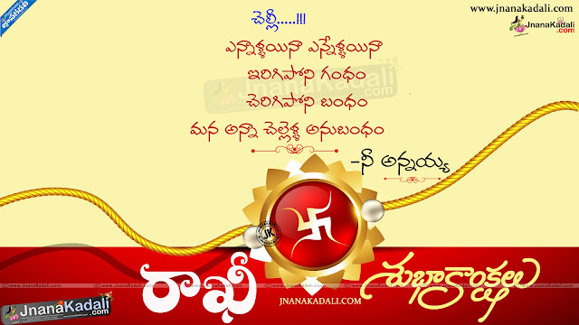 happy rakshabandha in telugu, telugu rakshabandhan wallpapers, nice telugu rakshabandha messages, best telugu rakshabandhan quotes messages
