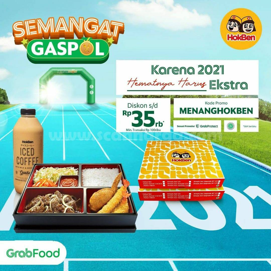 HOKBEN Promo Diskon Rp 35.000 khusus pemesanan via GRABFOOD