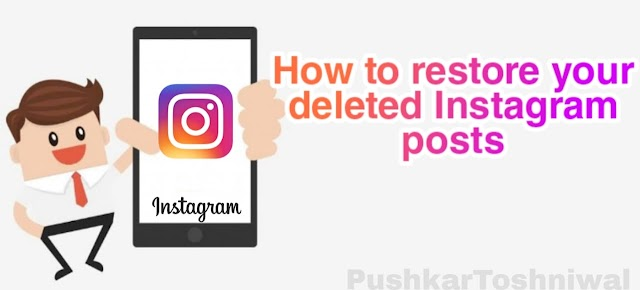 How to restore deleted instagram posts