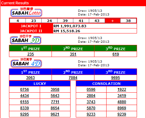 1 3d jackpot result