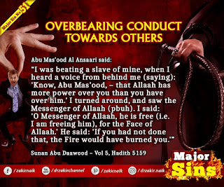 MAJOR SIN. 51.2. OVERBEARING CONDUCT TOWARDS OTHERS