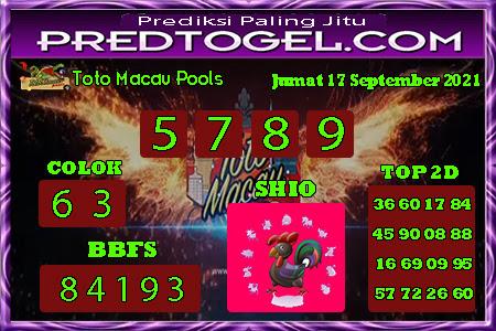 Pred Macau Jumat 17 September 2021