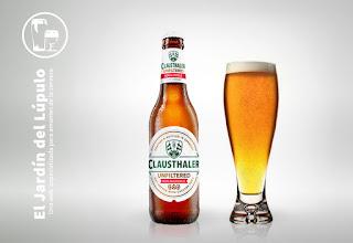 Clausthaler Unfiltered, una cerveza sin alcohol sin friltrar con dry hopping de Cascade