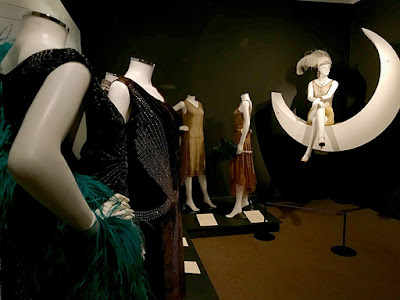 A selection of 1920s evening dresses