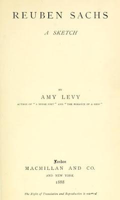 Reuben Sachs,  Novel by Amy Levy