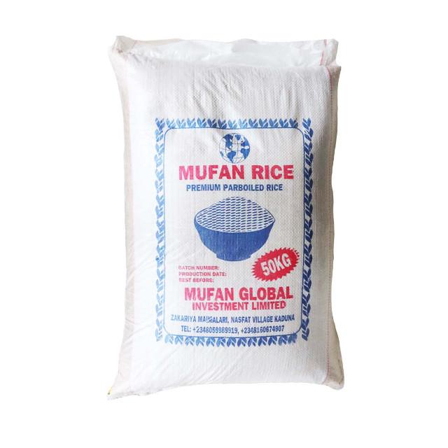 Mufan Premium Parboiled Rice 50kg