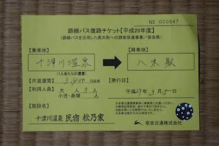 路線バス復路チケット