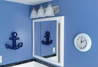 Nautical home renovation bathroom makeover