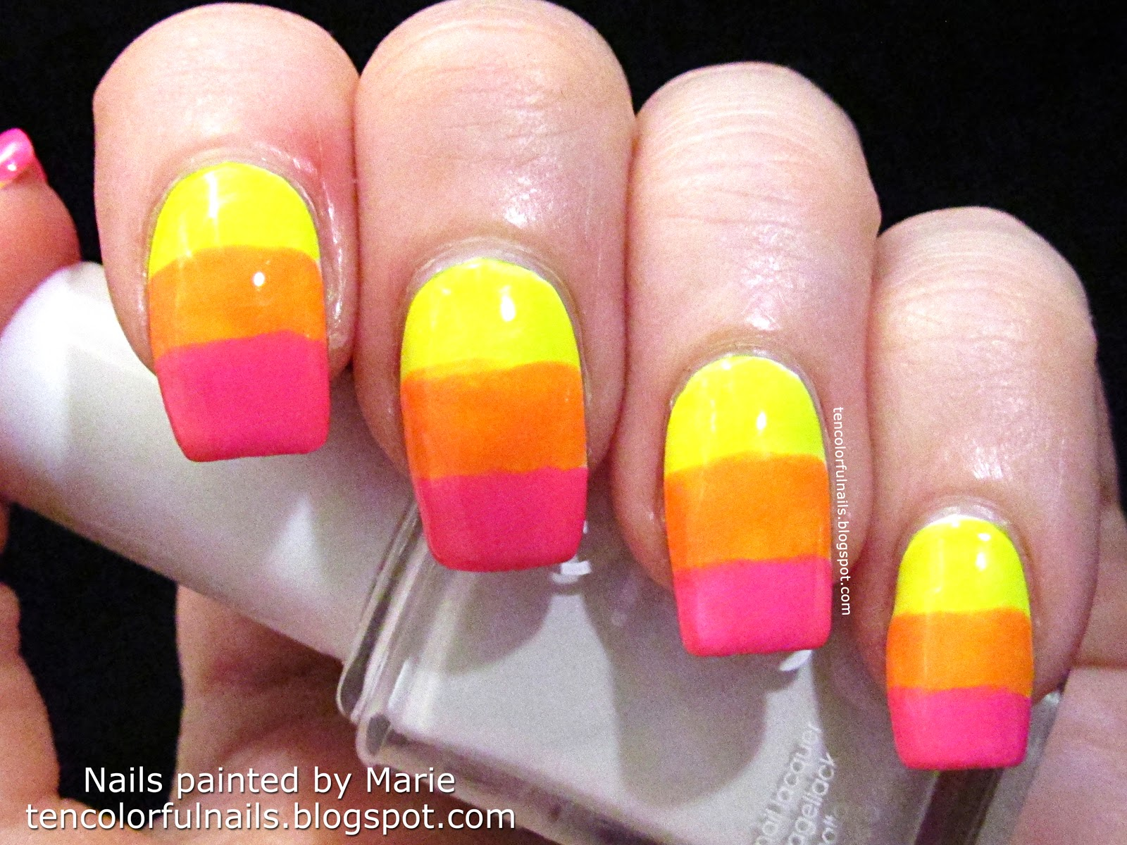 Ten Colorful Nails