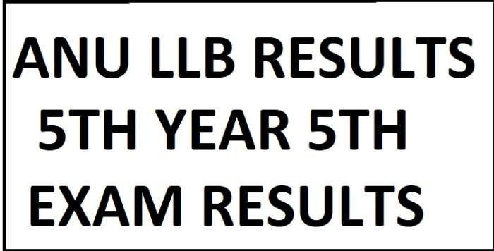 ANU LLB 3rd & 5th Year 5th Sem Results manabadi