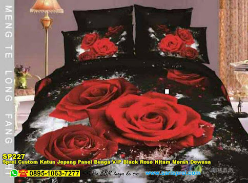 Sprei Custom Katun Jepang Panel Bunga 3D Ana Rose Merah Dewasa ...