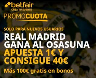 betfair promocuota Real Madrid gana Osasuna 9 enero 2021