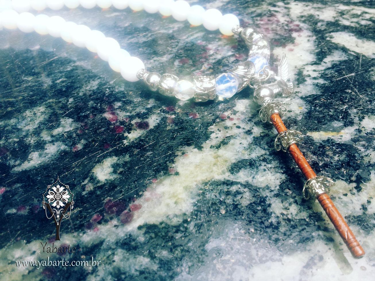 Guia de Oxalá em Pedra Natural com Mini Opaxorô