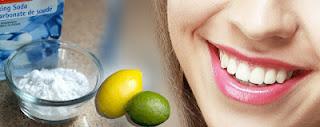 दांतों को शीध्र कैसे चमकायें Teeth Whitening with Baking Soda and Lemon in hindi