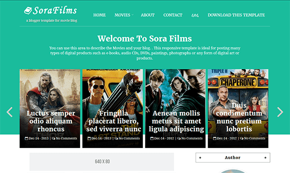 SoraFilms Blogger Template
