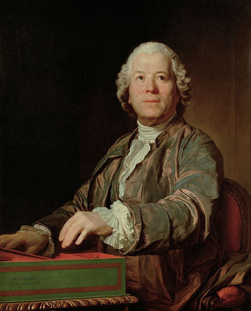 Joseph Siffred Duplessis - Christoph Willibald Gluck - playing his Clavichord