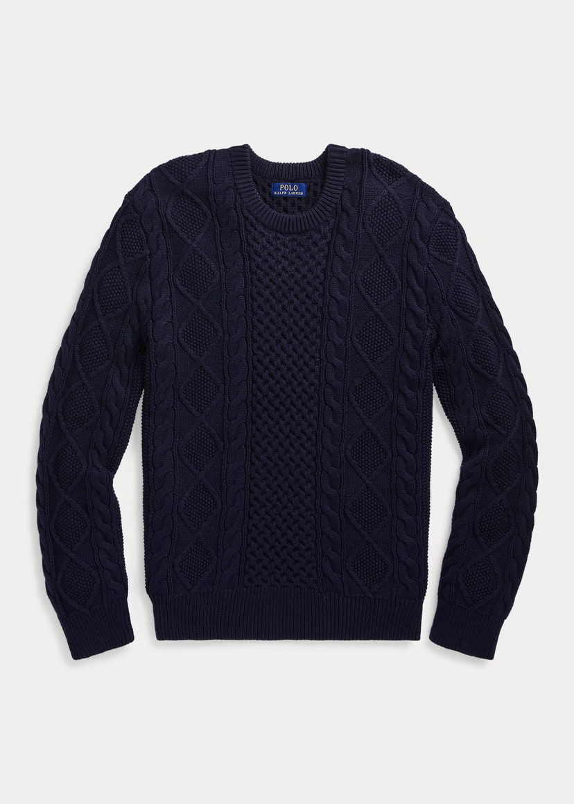 Cotton cable jumper by Polo Ralph Lauren