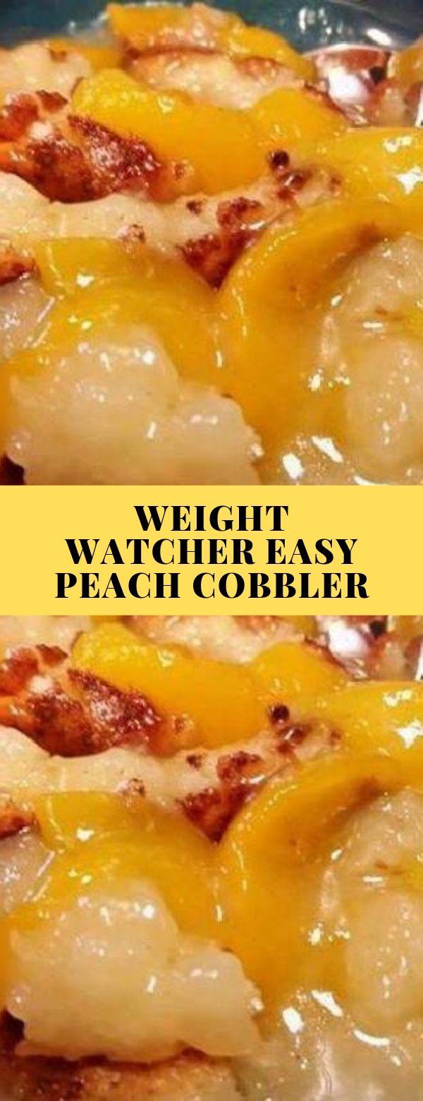 WEIGHT WATCHER EASY PEACH COBBLER #weightwatchers #easy