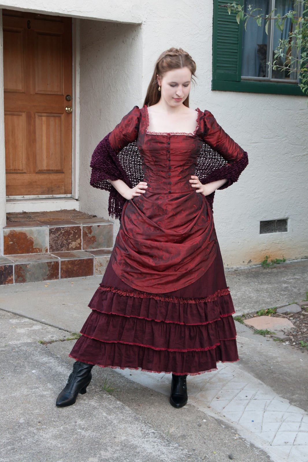 Frolicking Frocks  Clara the Barmaid Bustle Dress 77dcd7710
