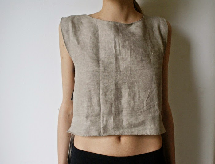 crop top cutout diy fashion
