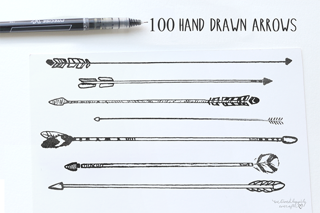 Hand-Drawn Tribal Arrows par WeLivedHappilyEverAfter